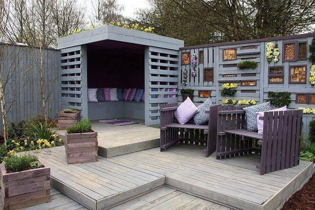 Mobili Con Pallets : Divani e mobili da giardino con i pallet idee riciclo creativo