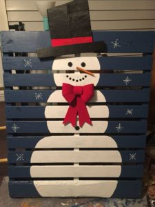 pallet-dipinto-pupazzo-neve