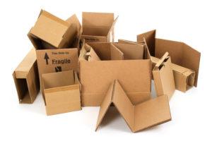 Riutilizzare scatole di cartone